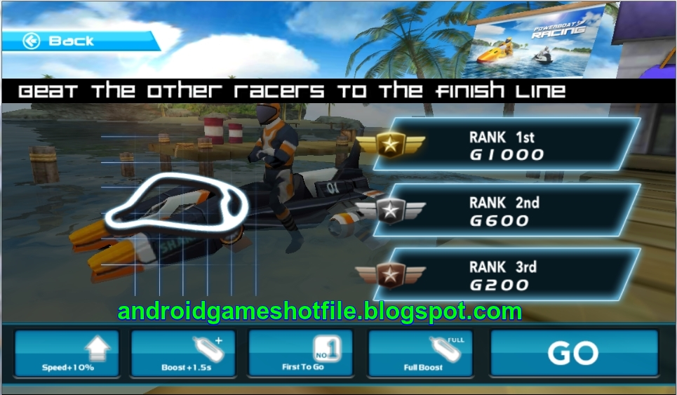 Powerboat Racing 3D V1 .1 [Unlimited Gold]