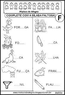 Alfabetização,sílabas faltosas