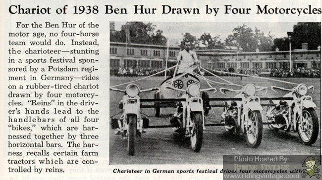 Used Harley Davidson Motorcycles >> Motorcycle Chariot Racing ~ Riding Vintage