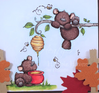 Heather's Hobbie Haven - Honeybear Stuffie Card Kit