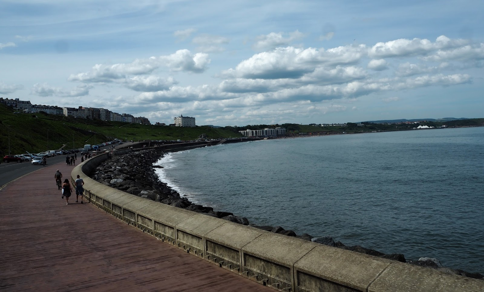 Esplanade coast road at North Bay, Scarborough