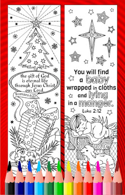 christmas bible verse coloring bookmarks