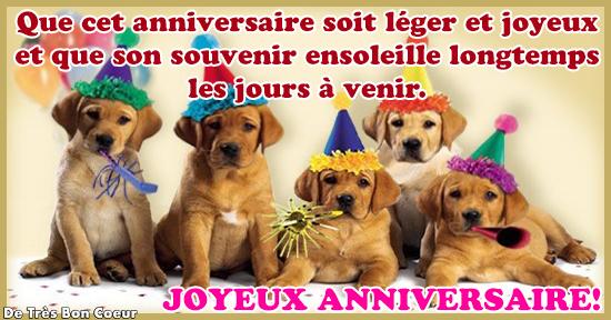 image animaux joyeux anniversaire
