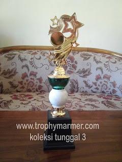 Harga Trophy piala marmer Koleksi 3 tunggal