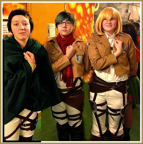 The Crew From Attack On Titan Roamed The Halls - Ann Again and again