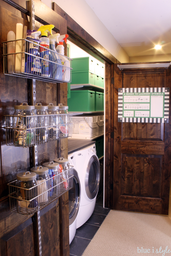 laundry closet organization
