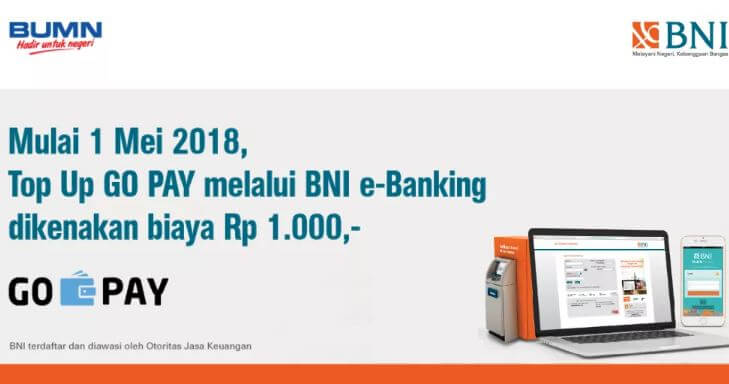 Cara Top Up GoPay Melalui ATM BNI Supaya Lebih Mudah