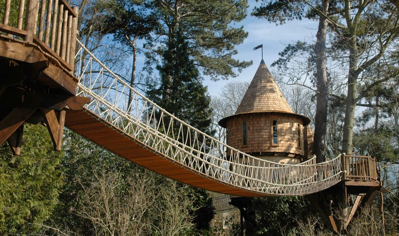 5. One of the bridges that connects it to… - This Family Lives In A Tree House That Looks Like A Castle. Think That's Cool? Wait Until You See The Inside.