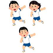 体育でダンスを踊る生徒のイラスト (バラバラ)