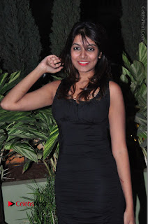 Actress Kavya Kumar Stills in Black Short Dress at F Club pre soft Launch  0022.JPG