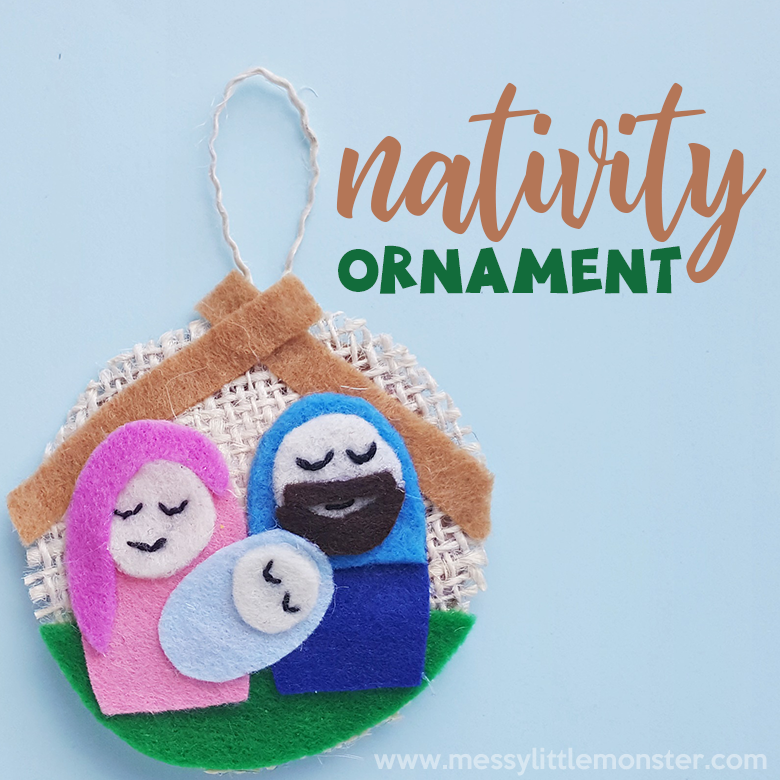 Nativity ornaments. Christmas crafts for kids