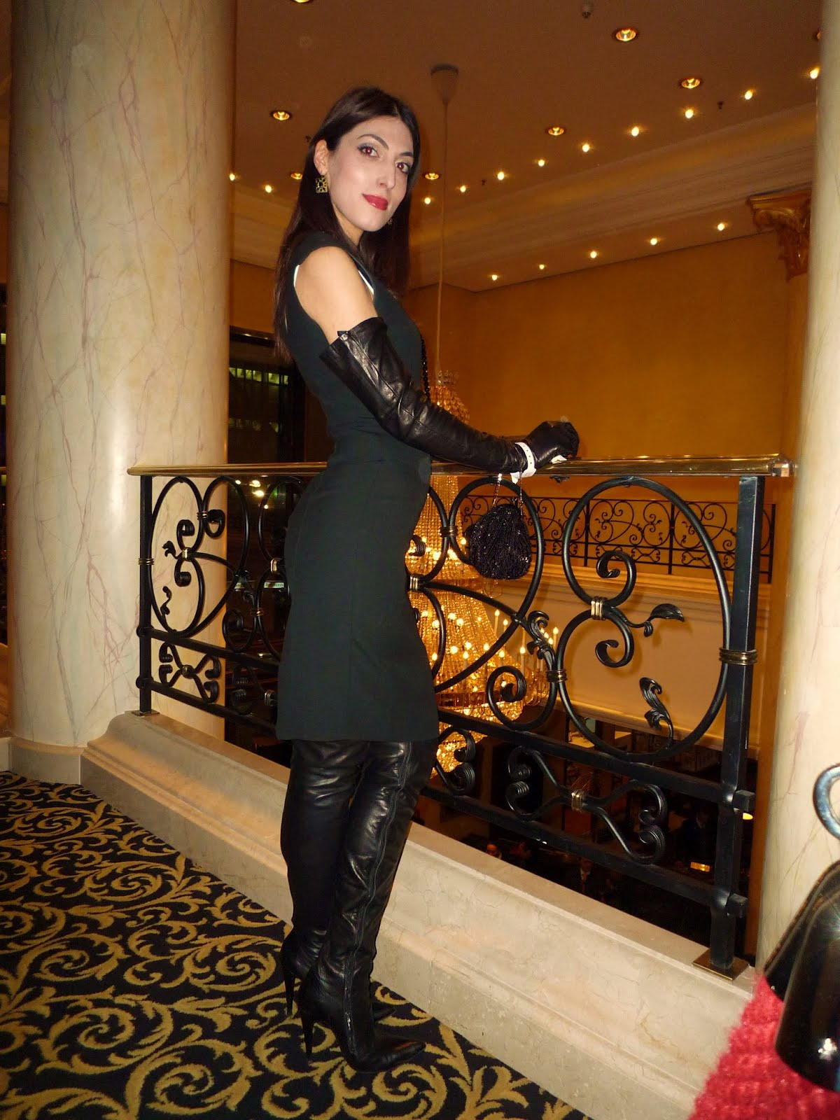 Tamuna Gadelia at the Berlinale Film Festival in Fernando Berlin Boots and Gloves