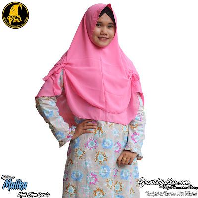 Khimar Ceruty Dua Layer Model Pinguin Simple