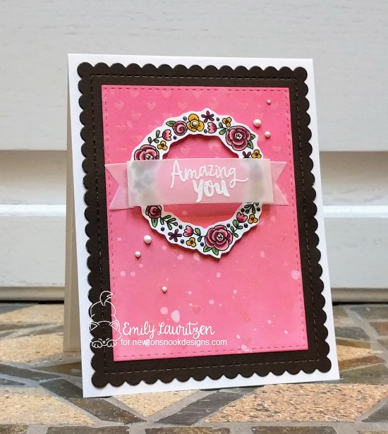 Amazing You by Emily features Frames and Flags and Happy Little Thoughts by Newton's Nook Designs; #newtonsnook