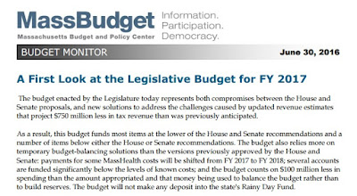 First look at Legislative Budget FY 2017