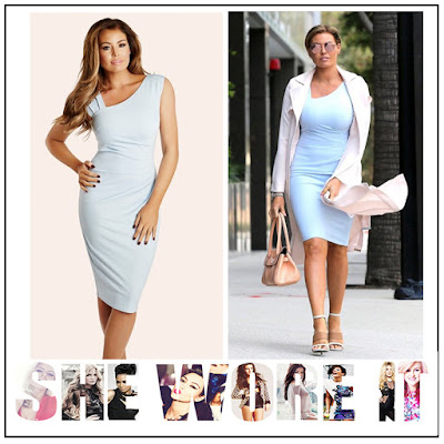 Bodycon, By Jessica Wright, Dress, Jessica Wright, Light Blue, Neckline Detail, Pleated, Ruched, Shoulder Detail, Sleeveless, Strap Detail,