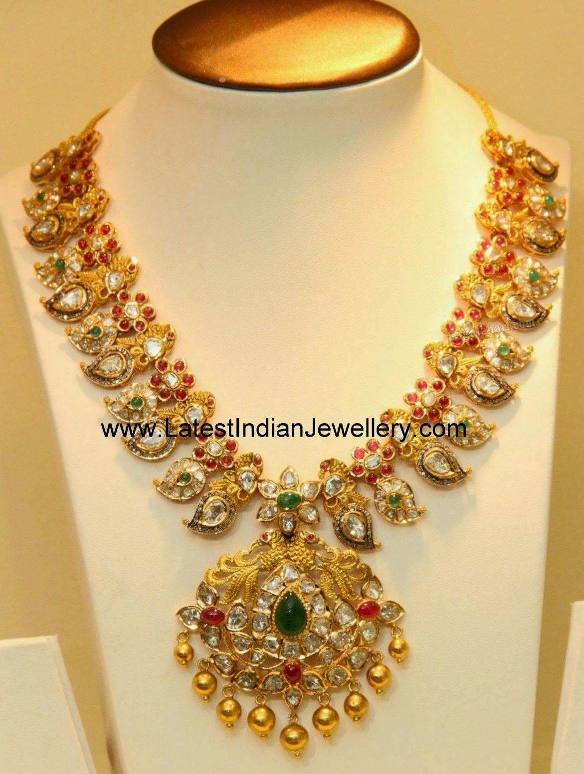 Pachi Work Mango Haram Latest Indian Jewellery Designs