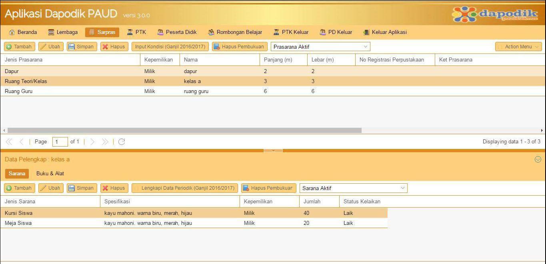 Cara Mengisi Data Sarana Dan Prasarana Sarpras Di Aplikasi Dapodik Buku Panduan Belajar Paud D Jika Sudah Bisa Disimpan Dengan Pilih Tombol Simpan