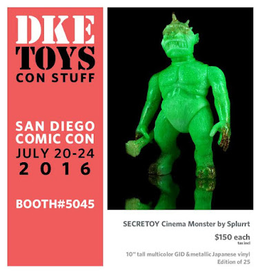 San Diego Comic-Con 2016 Exclusive SECRETOY Cinema Monster Marbled Glow in the Dark Vinyl Figure by Splurrt x DKE Toys