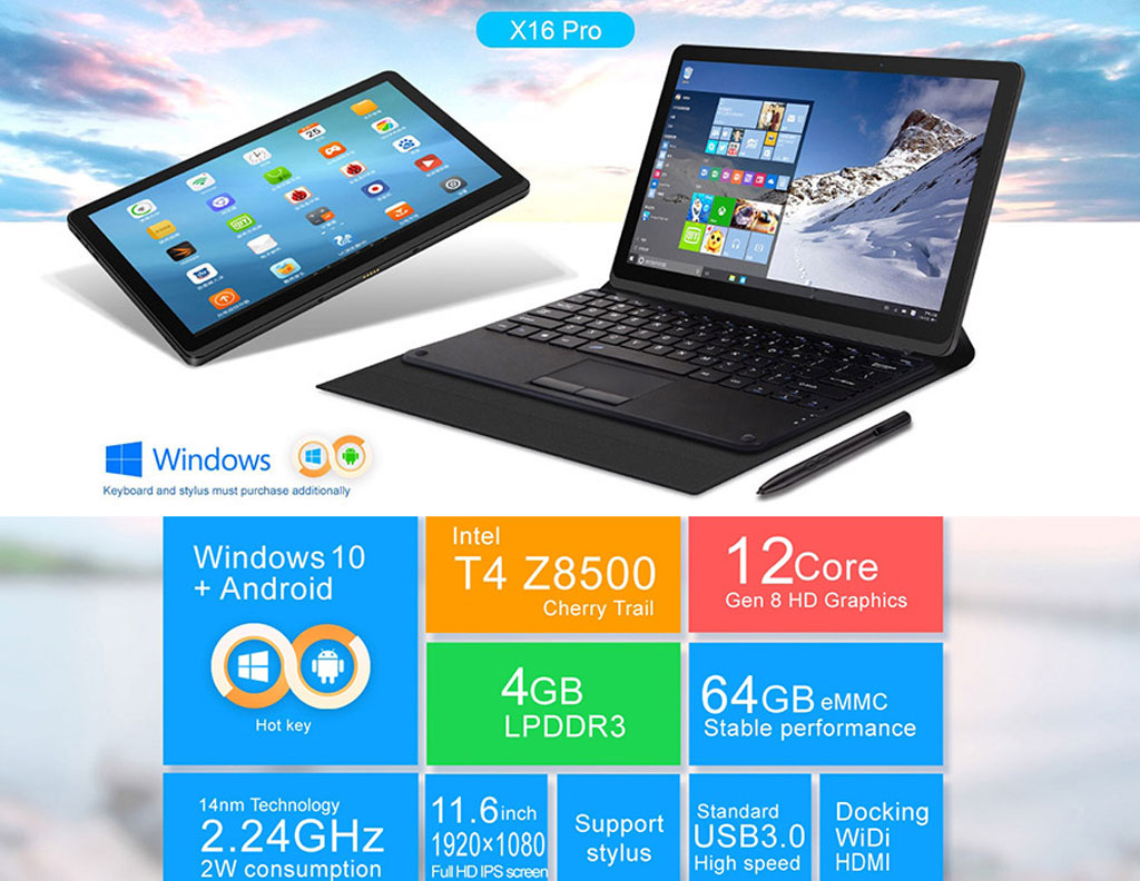 Teclast Intel Powered Dual-OS Tablet PCs Windows 10 plus Android Carnival Sale