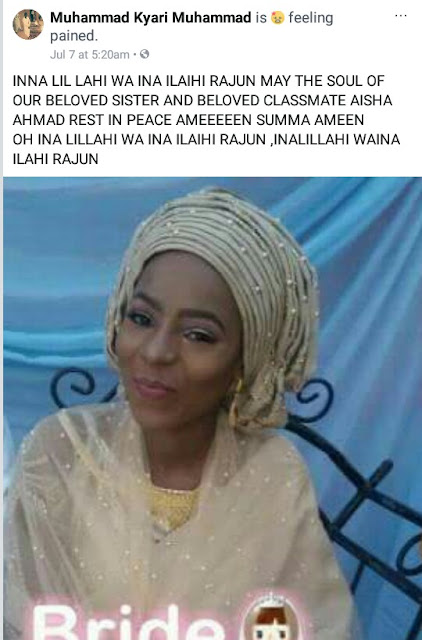 Young Nigerian woman dies three months after her wedding
