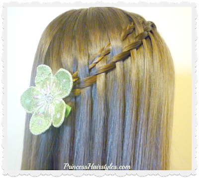 Easy braid tutorial. Micro woven waterfall twist braid.
