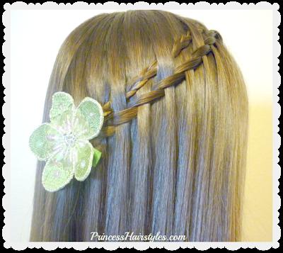 Easy braid tutorial. Micro woven waterfall twist braid.