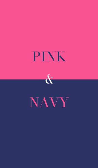 pink & navy .