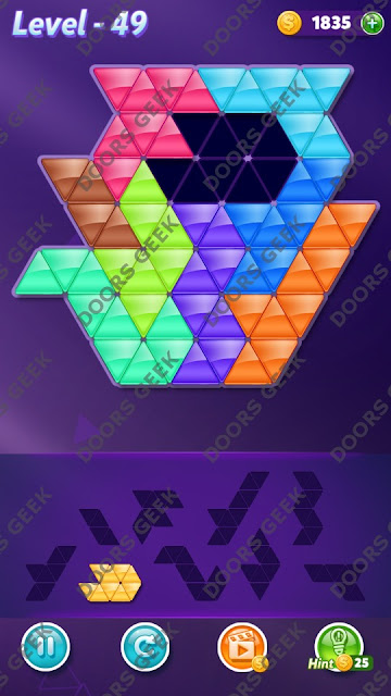 Block! Triangle Puzzle Proficient Level 49 Solution, Cheats, Walkthrough for Android, iPhone, iPad and iPod