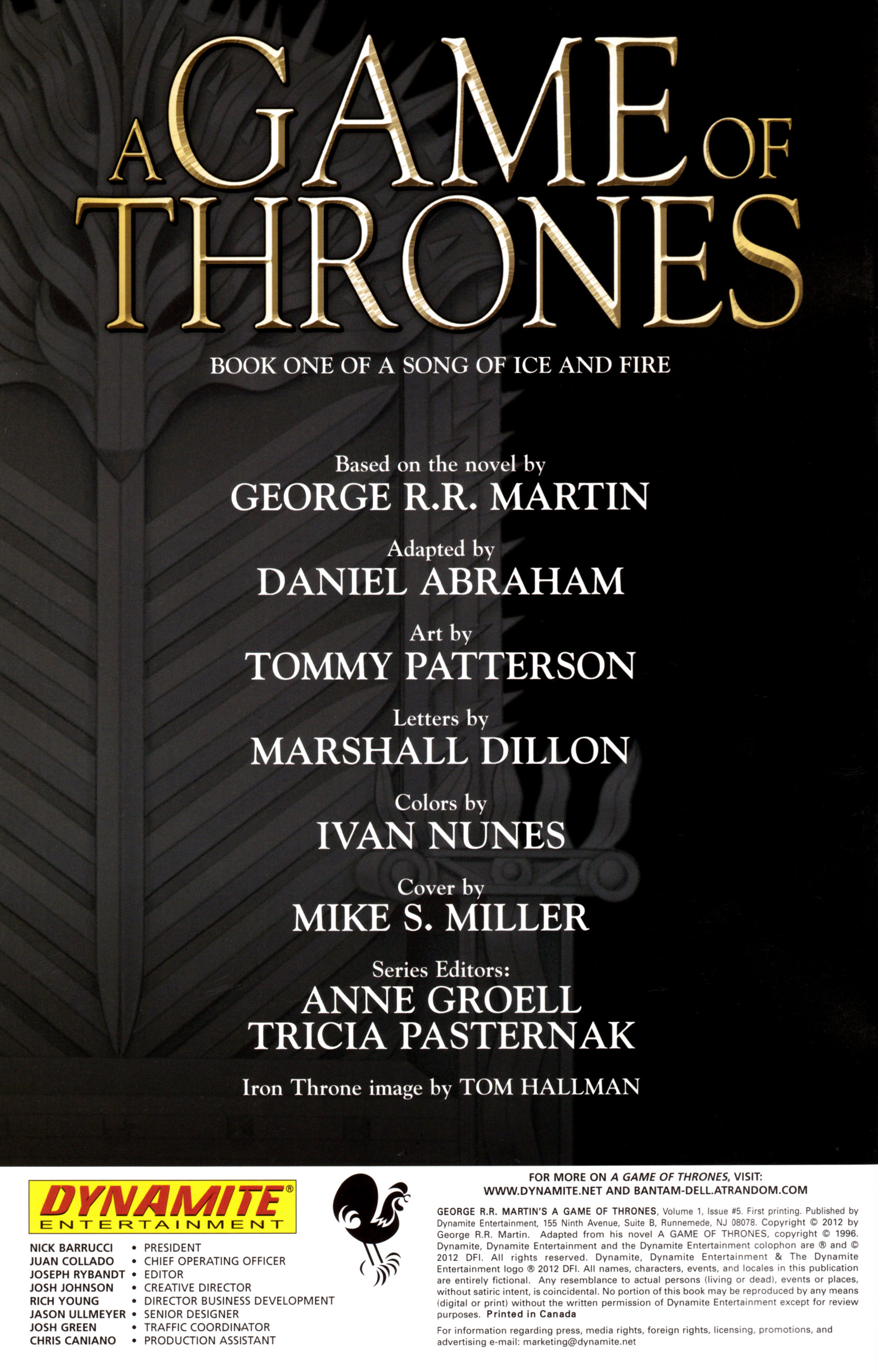 Read online A Game Of Thrones comic -  Issue #5 - 2