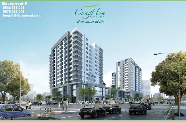 Phối cảnh tổng thể dự án Cộng Hòa Garden quận Tân Bình.