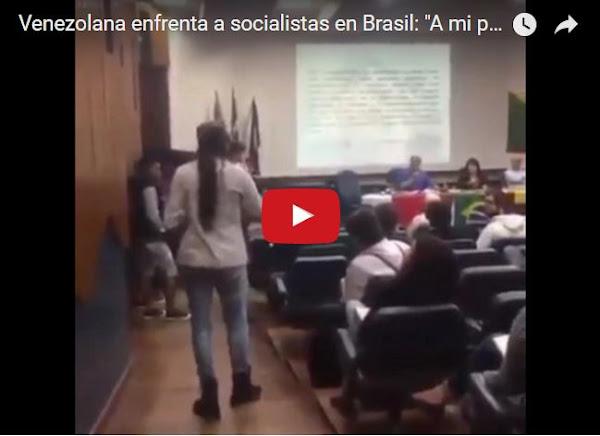 Joven defiende a Venezuela de los socialistas en Brasil