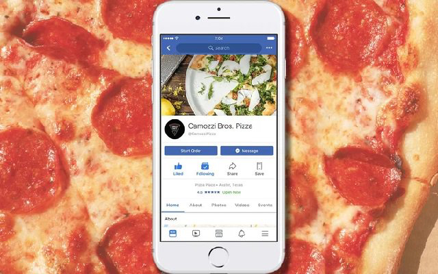 Now You can Order Food without Ever leaving Facebook