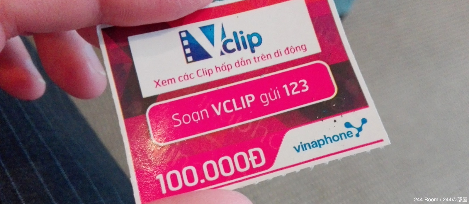 Vinaphone top up card