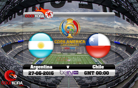 مشاهدة مباراة الأرجنتين وتشيلي اليوم 27-6-2016 نهائي كوبا أمريكا بي أن ماكس 2