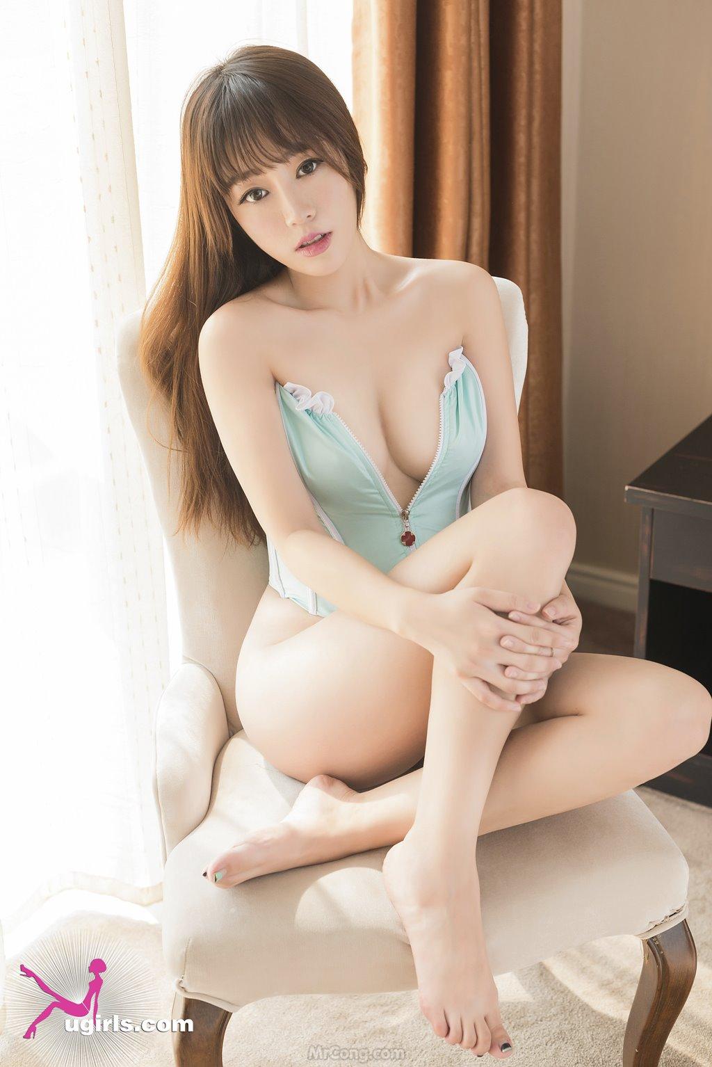 Image MrCong.com-UGIRLS-039-Wang-Yu-Chun-010 in post Ngắm người đẹp Wang Yu Chun (王雨纯) thả dáng sexy trong bộ ảnh UGIRLS 039