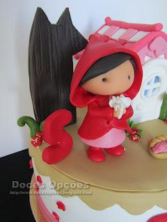 bolo menina capuchinho vermelho bragança