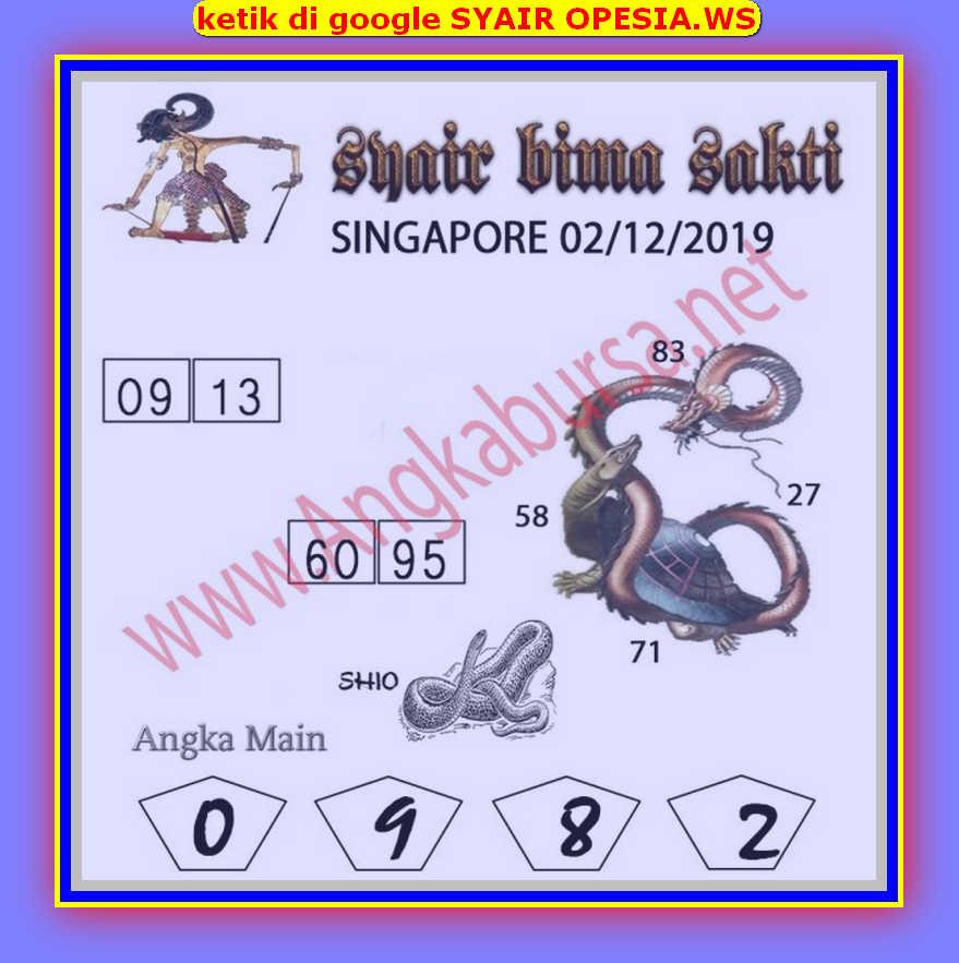 Kode syair Singapore Senin 2 Desember 2019 30