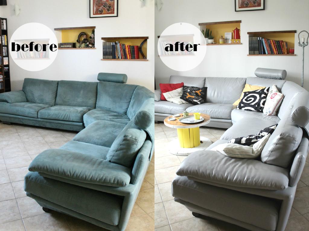 spesso Vivere a piedi nudi living barefoot: Come ho dipinto il mio divano  OC09