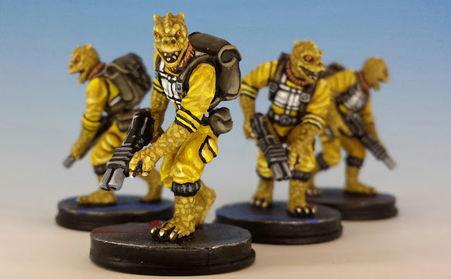 Trandoshan Hunters, Imperial Assault FFG (2014, sculpted by B. Maillet)