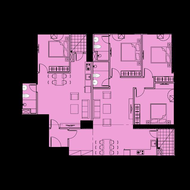 Thiết kế căn hộ D2 - 153m2 tòa River1 EuroWindow River Park