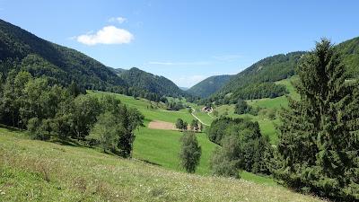 Blick durch das Tal beim Seehof