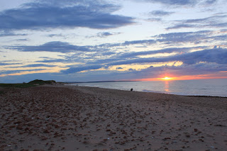 sunset on the beach at Cavendish, Prince Edward Island