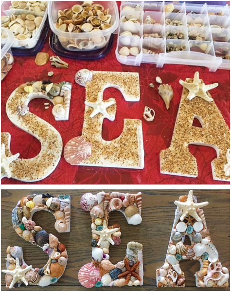 How to Decorate Craft Letters with Shells