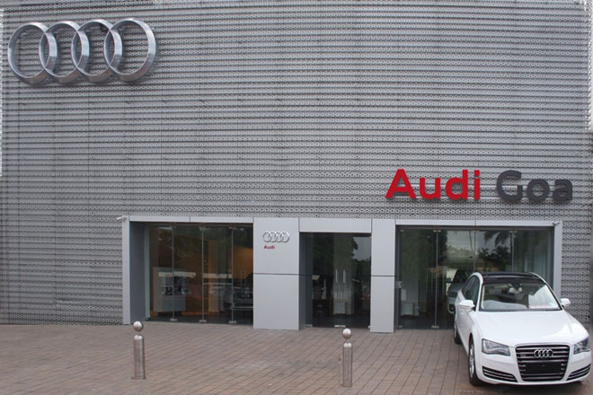 Audi Largest Luxury Car Showroom In Goa City The World Of Audi