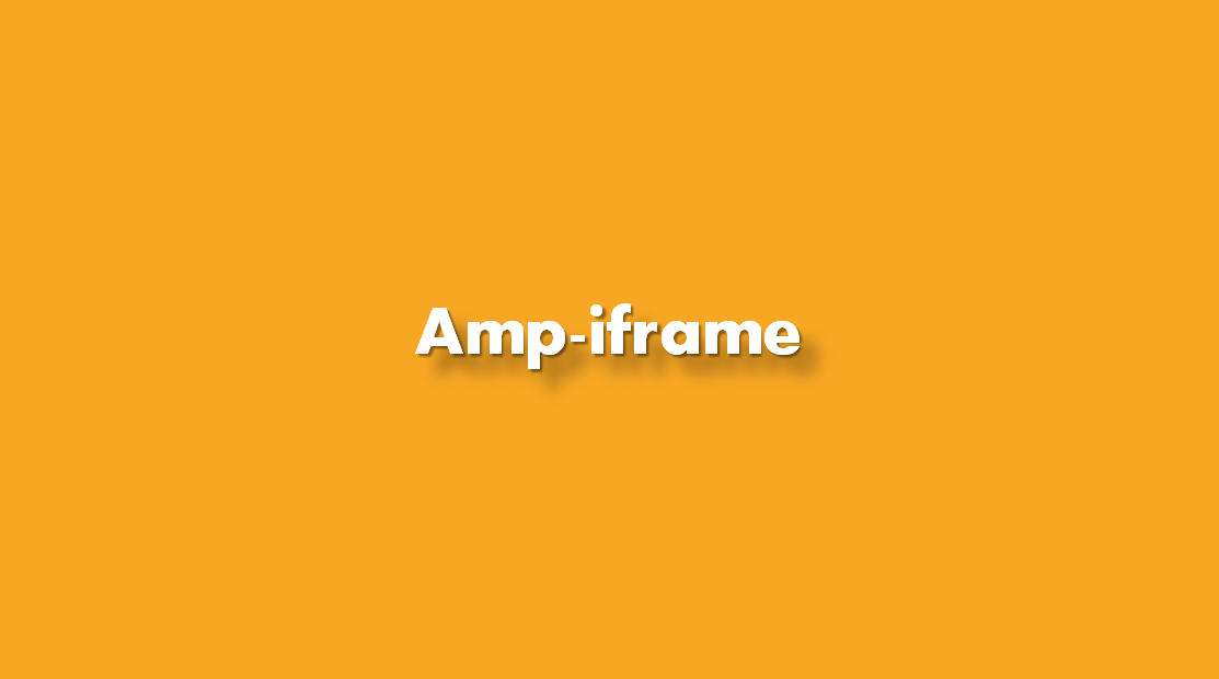 ¿Cómo insertar Amp-iframe?