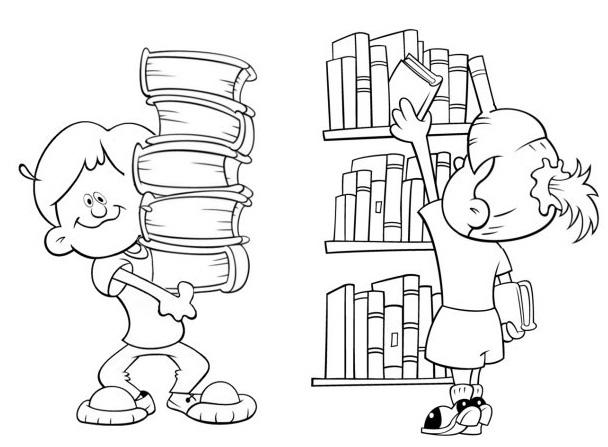 Mujer Leyendo El Libro En Blanco En El Jardín: Dia Do Livro Infantil Para Colorir