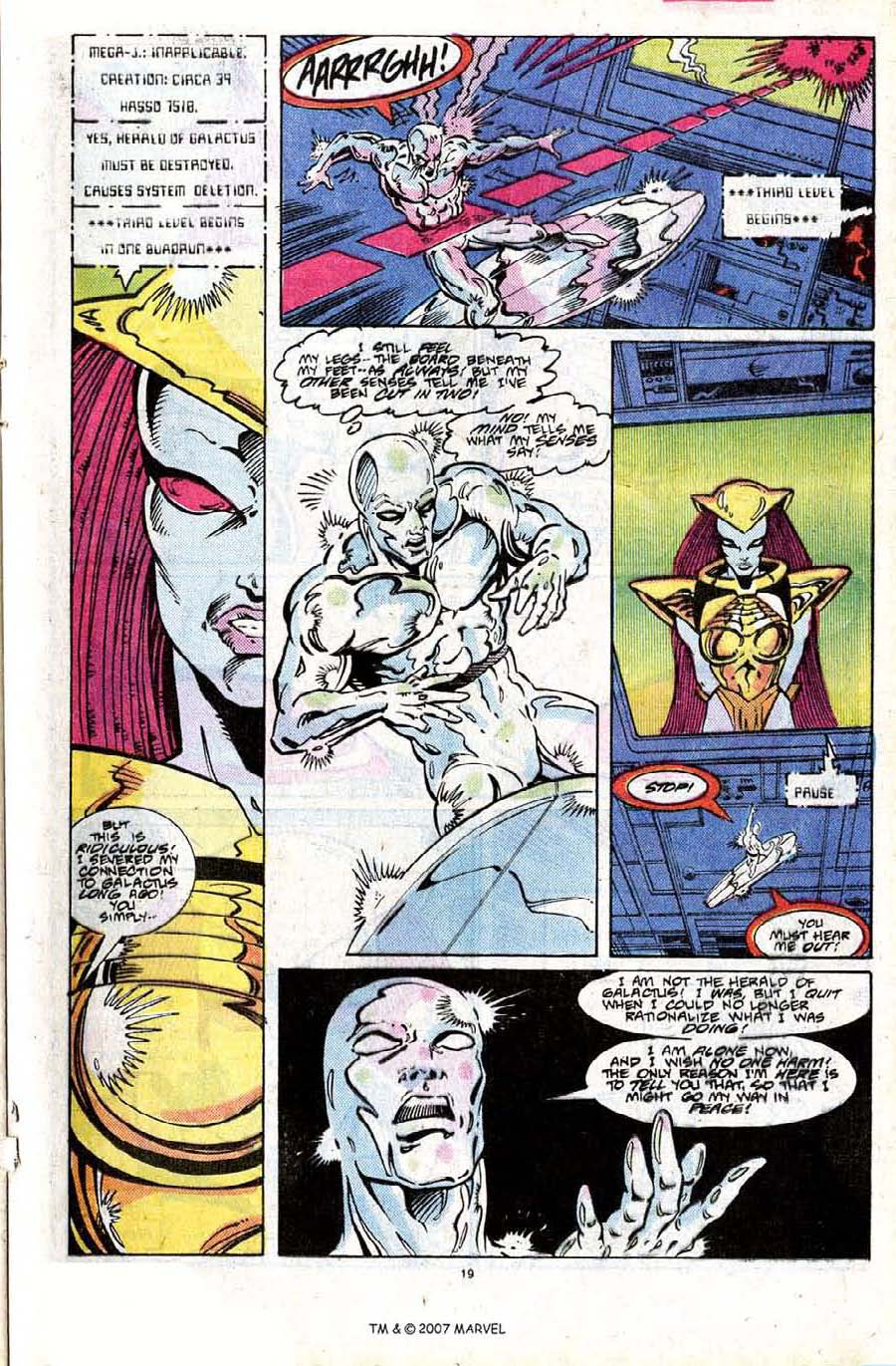 Read online Silver Surfer (1987) comic -  Issue #24 - 21