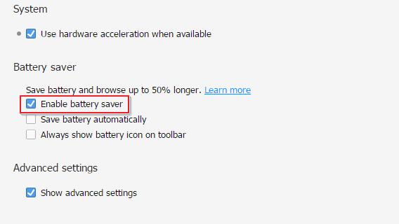 Battery Saver Opera