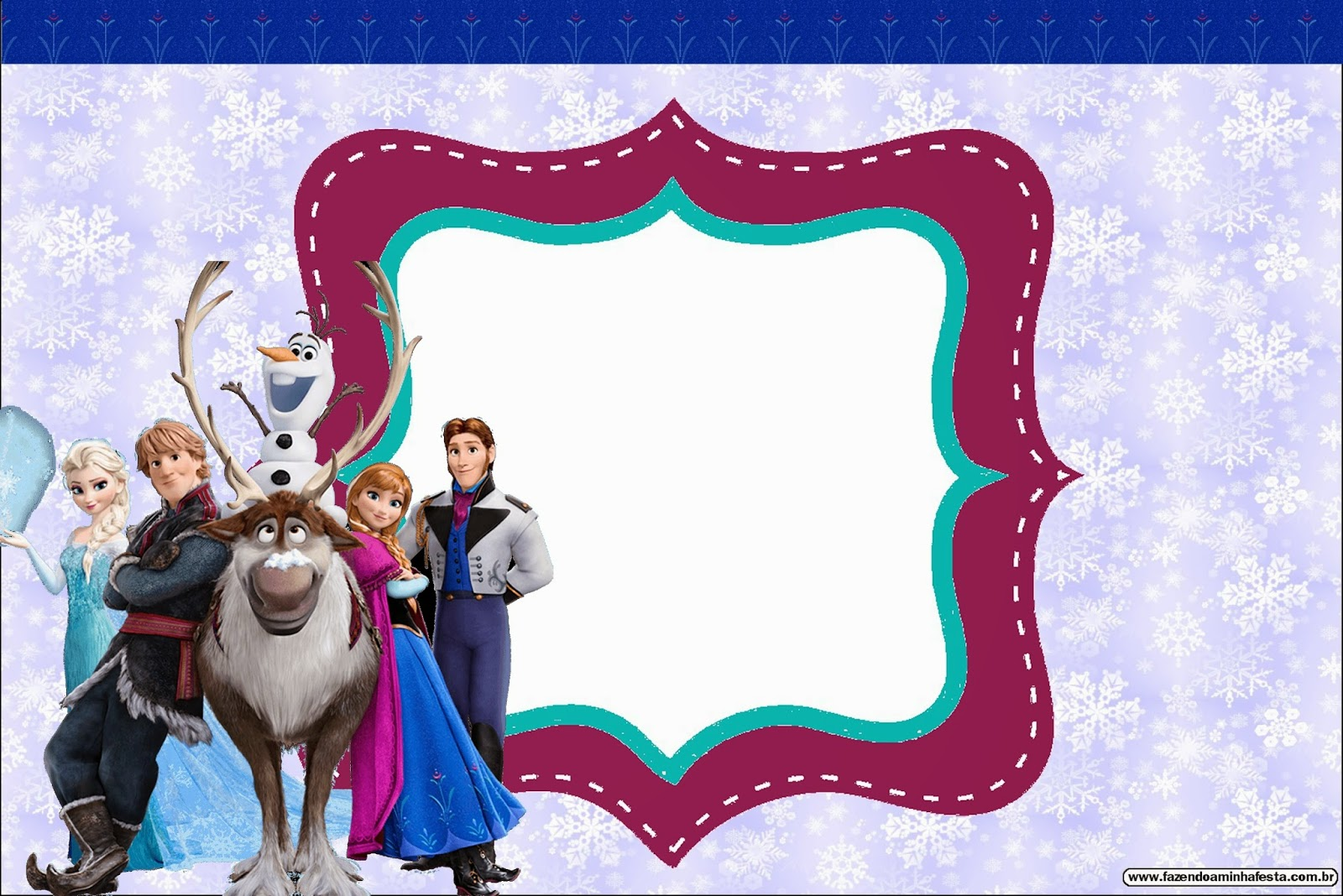ef028fb221a9 Cute Frozen Party  Free Printable Invitations.